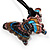 Multicoloured Glass Butterfly Suede Cord Pendant - 42cm - view 7