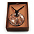 Glittering Gold Glass Medallion Suede Cord Pendant - 42cm - view 4