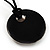 Glittering Gold Glass Medallion Suede Cord Pendant - 42cm - view 7
