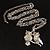 Long Diamante Owl Pendant Necklace (Silver Tone) - 66cm - view 6