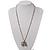 Long Diamante Owl Pendant Necklace (Silver Tone) - 66cm - view 5