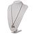 Long Diamante Owl Pendant Necklace (Silver Tone) - 66cm - view 8