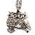 Long Diamante Owl Pendant Necklace (Silver Tone) - 66cm - view 10