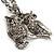 Long Diamante Owl Pendant Necklace (Silver Tone) - 66cm - view 4