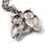 Long Diamante Owl Pendant Necklace (Silver Tone) - 66cm - view 11