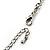 Long Diamante Owl Pendant Necklace (Silver Tone) - 66cm - view 7