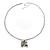Long Diamante Owl Pendant Necklace (Silver Tone) - 66cm - view 12
