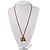 Long Diamante Owl Pendant Necklace (Antique Gold Tone) - 66cm - view 6