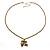 Long Diamante Owl Pendant Necklace (Antique Gold Tone) - 66cm - view 9