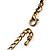 Long Diamante Owl Pendant Necklace (Antique Gold Tone) - 66cm - view 7