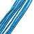 Light Blue Enamel Cotton Cord Butterfly Pendant Necklace (Silver Tone) - 40cm Length - view 6
