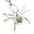 Shimmering Diamante Spider Pendant Necklace (Silver Tone Finish) - 60cm Length - view 2