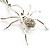 Shimmering Diamante Spider Pendant Necklace (Silver Tone Finish) - 60cm Length - view 5