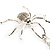 Shimmering Diamante Spider Pendant Necklace (Silver Tone Finish) - 60cm Length - view 7