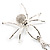 Shimmering Diamante Spider Pendant Necklace (Silver Tone Finish) - 60cm Length - view 6