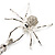 Shimmering Diamante Spider Pendant Necklace (Silver Tone Finish) - 60cm Length - view 9
