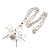 Shimmering Diamante Spider Pendant Necklace (Silver Tone Finish) - 60cm Length - view 12