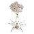 Shimmering Diamante Spider Pendant Necklace (Silver Tone Finish) - 60cm Length - view 13