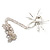 Shimmering Diamante Spider Pendant Necklace (Silver Tone Finish) - 60cm Length - view 14