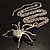 Shimmering Diamante Spider Pendant Necklace (Silver Tone Finish) - 60cm Length - view 22