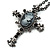 Victorian Cross Cameo Pendant Necklace (Gun Metal) - 65cm Length - view 9