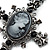 Victorian Cross Cameo Pendant Necklace (Gun Metal) - 65cm Length - view 3
