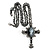 Victorian Cross Cameo Pendant Necklace (Gun Metal) - 65cm Length - view 7