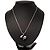 Crystal Panda Bear Pendant Necklace In Rhodium Plated Metal - 44cm Length - view 6
