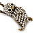 Long Cute Crystal & Simulated Pearl Owl Pendant Necklace In Antique Gold Metal - 60cm Length (10cm Extension) - view 7