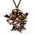 Vintage 'Love Birds' Pendant Necklace In Antique Gold Finish - 46cm Length (6cm extension)