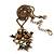 Vintage 'Love Birds' Pendant Necklace In Antique Gold Finish - 46cm Length (6cm extension) - view 4