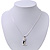 Cute Clear Diamante 'Cat' Pendant Necklace In Silver Plating - 40cm Length - view 5