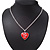 Silver Plated Red 'Heart' Locket Pendant Necklace - 44cm Length/ 4cm Extension - view 4
