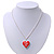 Silver Plated Red 'Heart' Locket Pendant Necklace - 44cm Length/ 4cm Extension - view 6