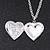 Silver Plated Red 'Heart' Locket Pendant Necklace - 44cm Length/ 4cm Extension - view 2