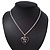 Silver Plated Black 'Heart' Locket Pendant Necklace - 44cm Length/ 4cm Extension - view 6