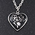 Silver Plated Black 'Heart' Locket Pendant Necklace - 44cm Length/ 4cm Extension