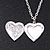 Silver Plated Black 'Heart' Locket Pendant Necklace - 44cm Length/ 4cm Extension - view 2