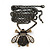 Long Vintage Diamante 'Bee' Pendant Necklace In Bronze Finish - 76cm Length/ 3cm Extension - view 5