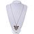 Exotic Swarovski Crystal 'Tiger' Pendant In Rhodium Plating - 74cm Length/ 9cm Extension - view 4