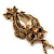 Long Champagne CZ 'Owl' Pendant Necklace In Gold Plating - 72cm Length/ 7cm Extension - view 7