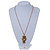 Long Champagne CZ 'Owl' Pendant Necklace In Gold Plating - 72cm Length/ 7cm Extension - view 6
