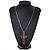 Large Contemporary Double Cross Pendant with Long Snake Chain In Gold Plating - 77cm Length - view 7