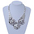 Chunky Triple Rose Ethnic Necklace In Rhodium Plating - 42cm Length/ 7cm Extender - view 8