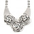 Chunky Triple Rose Ethnic Necklace In Rhodium Plating - 42cm Length/ 7cm Extender - view 4