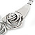Chunky Triple Rose Ethnic Necklace In Rhodium Plating - 42cm Length/ 7cm Extender - view 5