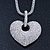 Rhodium Plated Swarovski Crystal 'Queen of Hearts' Pendant on Long Lantern Chain - 70cm (6cm Extension) - view 3