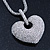 Rhodium Plated Swarovski Crystal 'Queen of Hearts' Pendant on Long Lantern Chain - 70cm (6cm Extension) - view 10