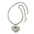 Rhodium Plated Swarovski Crystal 'Queen of Hearts' Pendant on Long Lantern Chain - 70cm (6cm Extension) - view 4