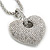 Rhodium Plated Swarovski Crystal 'Queen of Hearts' Pendant on Long Lantern Chain - 70cm (6cm Extension) - view 12
